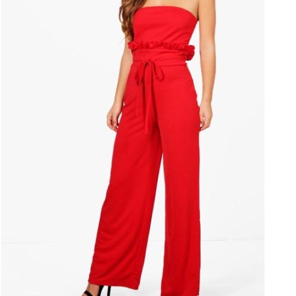 3637e96df65 Red Jumpsuit- Petite. M 5b8fd28245c8b3c424facf45